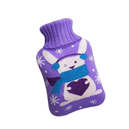 Wärmflasche mit Bezug, Sicher und langlebig Und Frei Von Schadstoffen, Wärmeflasche mit gestrickter Abdeckung Waschbare Wärmekissen, (1PC, A)