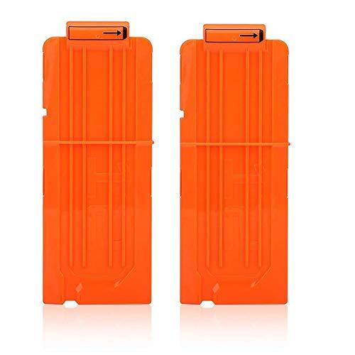 T-best Quick Reload Clip,2PCS Soft Bullet Clip Darts,6/12/18 Dart Quick Reload Refill Clip Cartridge Magazine Replacement Nerf Gun N-Strike Elite Blasters (12 Dart Opaque Orange)