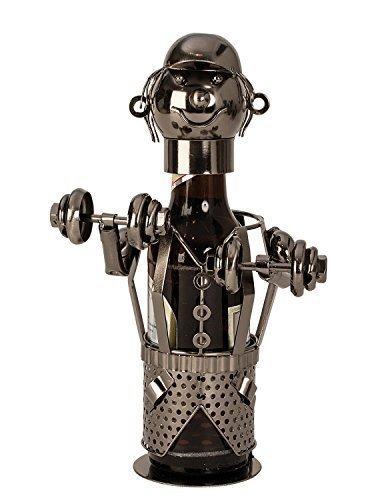 Unbekannt Moderner Bier Flaschenhalter Flaschenständer Bodybuilder aus Metall Höhe 26 cm