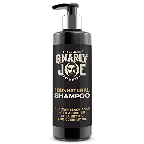 Gnarly Joe Mens Shampoo. Natural African Black Soap with Coconut, 250 ml