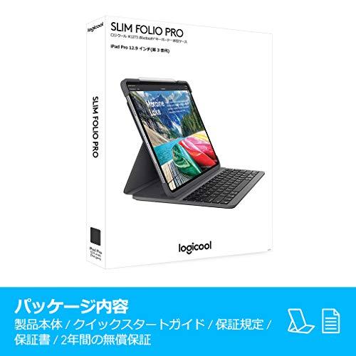 ロジクールiPadPro12.9インチ対応キーボードiK1273ブラックBluetoothキーボード一体型ケースiPadPro12.9インチ対応SLIMFOLIOPRO国内正規品2年間メーカー保証