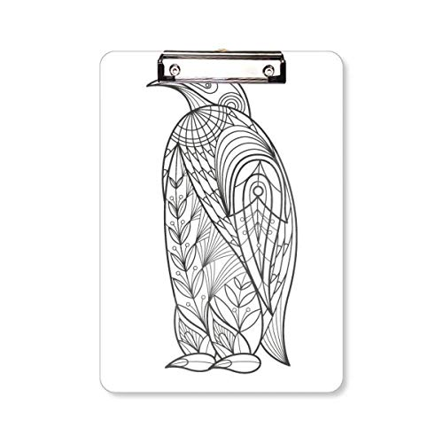 Grootste Vogel Verf Koud Klembord Folder Schrijven Pad Achterplaat A4