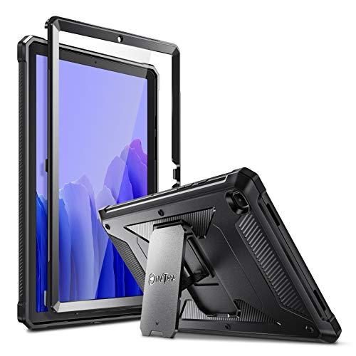 Fintie Hülle für Samsung Galaxy Tab A7 10,4 2020, Ganzkörper-Rugged Hybrid Stand Schutzhülle mit eingebauter Schutzfolie für Samsung Galaxy Tab A7 10.4 SM-T500 / SM-T505 / SM-T507 Tablet, Schwarz