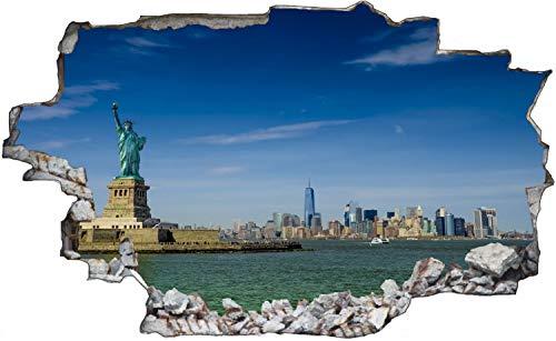 New York Freiheitsstatue Skyline Wandtattoo Wandsticker Wandaufkleber C0912 Größe 60 cm x 90 cm