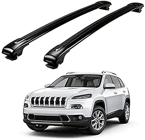 2pezzi Auto Portapacchi Per Jeep Cherokee 2014-2018, Veicoli Profili Integrati Realizzato Acciaio Eleganti Aerodinamiche