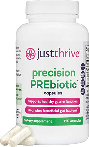 Just Thrive: Precision PREbiotic Capsules - Gastrointestinal and Immune Support - 120 Capsules - Supports Probiotic Diversity for Optimal Digestive and Gut Health - Vegetarian, Paleo and Keto