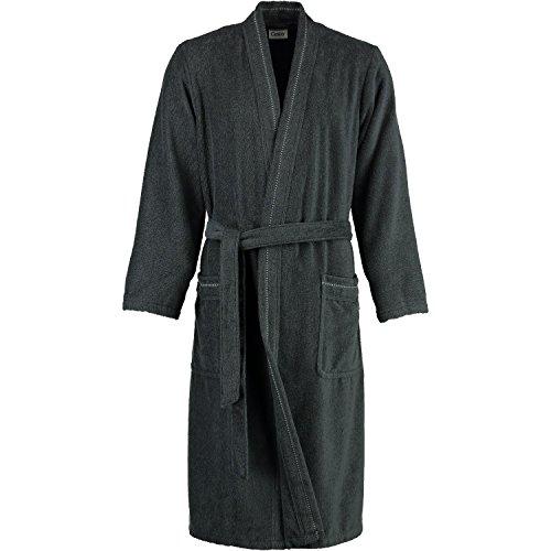Cawö Home Bademantel Herren Kimono 4511 anthrazit - 774 schlanke Größe 110