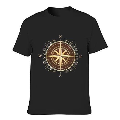 Camisetas Hombre Brújula Dorada Algodón Camisetas - Nautical Elements Slim Shirt