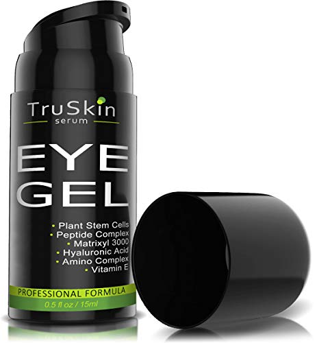 Best Eye Gel for Wrinkles, Fine Lines, Dark Circles, Puffiness, Bags, 75% ORGANIC Ingredients, With...