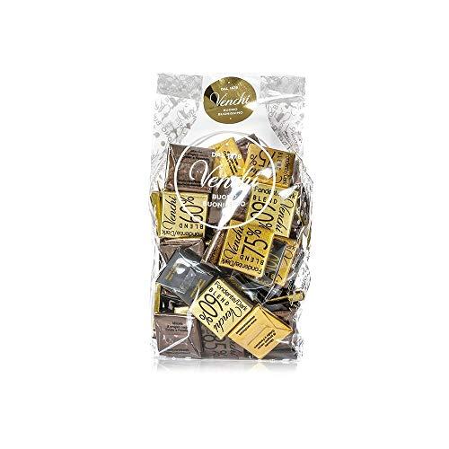 Venchi Cioccolatini Blend Assortiti in Sacchetto 300g - Cioccolato Fondente in Versioni 75%, 60%, 85%, 100% - Senza Glutine
