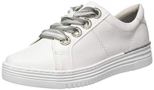 Jana 100% comfort Damen 8-8-23623-24 Sneaker, Weiß (White Nappa 108), 42 EU