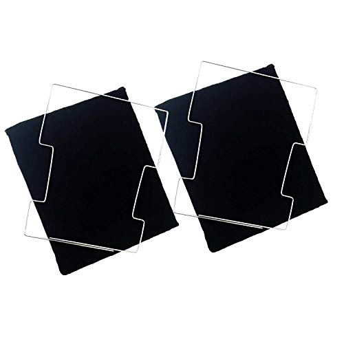 2x universal Aktivkohlefilter Typ 020 waschbar Filter für Dunstabzugshauben Karbon Filter für Umluftbetrieb Maße 22 cm x 18 cm x 2 cm für viele Modelle Whirlpool Bauknecht CFW020/1 CFWB020B DKF43
