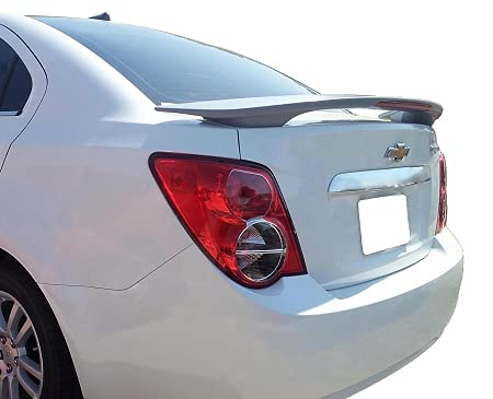 Accent Spoilers- Spoiler for a Chevrolet Sonic Factory Style Spoiler-Inferno Orange Metallic Paint Code: WA502Q
