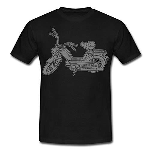 Mofa Roller Moped Motor-Fahrrad Männer T-Shirt, M, Schwarz