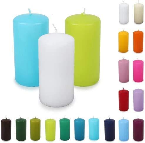 S&S-Shop 16 Stumpenkerzen | Mix Paket | gemischte Farben/Düfte | 30h Brenndauer | Kerzen | Blockkerze | Deko | Duftkerze | Duftstumpen