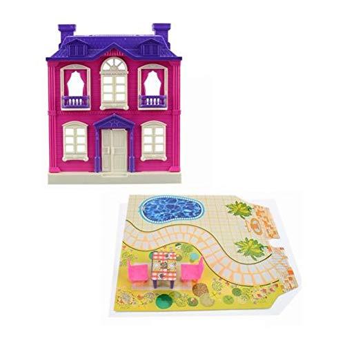 Colocado con DIRIGIÓ Niño fingir jugar juguete de educación BRICOLAJE Modelo de la casa del castillo de la montaje -Home Decoración-Miniatura Modelo para construir -Christmas Regalos de cumpleaños par