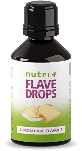 Flave Drops Zitronenkuchen 30ml - zero calorie sweets - Geschmackstropfen - Lemon Cake Flavor Drop Vegan - Zitronenaroma ohne Zucker & Kalorien - Aromatropfen