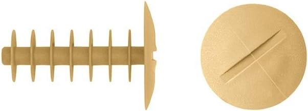Stop Steigerpluggen pluggen pluggen Ø14 mm | 100 stuks | Bordendiameter 28 mm | wit grijs beige | overschilderbaar beige