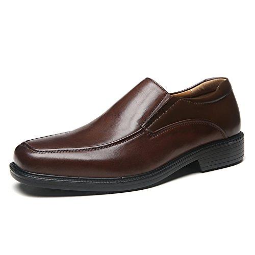 La Milano Mens Geniune Leather Cap Toe Lace Up Dress Shoe,Regno-7-tan, 8.5 D(M) US