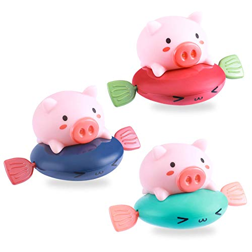 Juguetes de baño, Juguete de Agua, Juguetes, Juguetes de Piscina Diversión, Juguete para bebés, Piscina Juguetes de Juegos de Juegos de Piscina, Viento Up Up Natamiento Juguetes Cerdo Flotante Bebé Pi