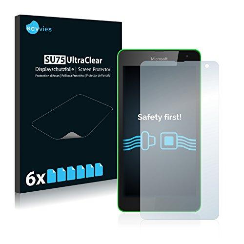Savvies 6X Schutzfolie kompatibel mit Microsoft Lumia 535 Bildschirmschutz-Folie Ultra-transparent