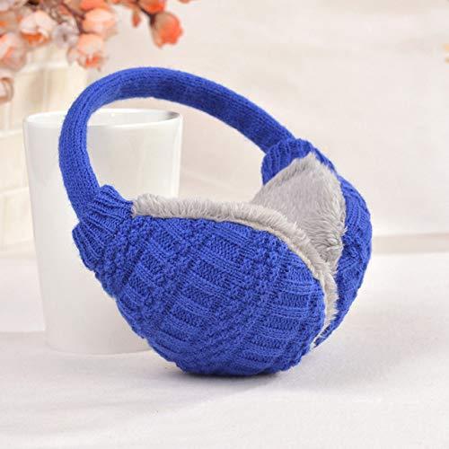 Orejeras de invierno cálidas Orejeras de punto para niños Orejeras de regalo para bebés Calentadores de orejas azules