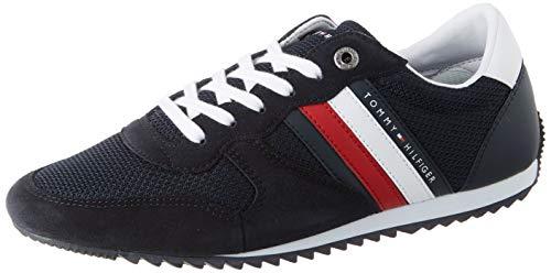 Tommy Hilfiger Essential Mesh Runner, Zapatillas para Hombre, Azul (Desert Sky Dw5), 43 EU