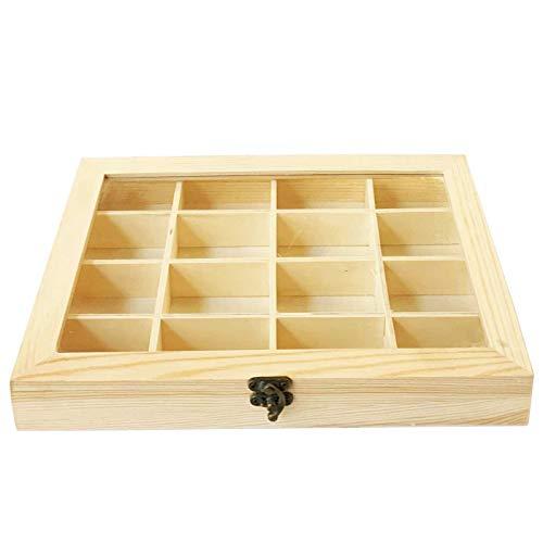 Caja de Madera con 16 Compartimentos 28 X 20 cm