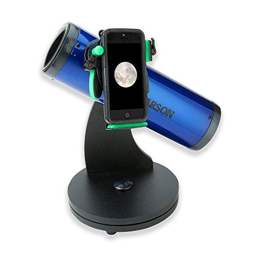 Carson SkySeeker 15x-37,5X Newton Reflektor Einsteiger Teleskop mit Universal Smartphone Optik Digiscoping Adapter (JC-200UN)
