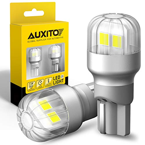 AUXITO 921 912 LED Backup Reverse Light Bulbs, 2021 Version, 360°Illumination, Extremely Bright, Error Free 6000K White T15 906 W16W Replacement Lamp (Pack of 2)