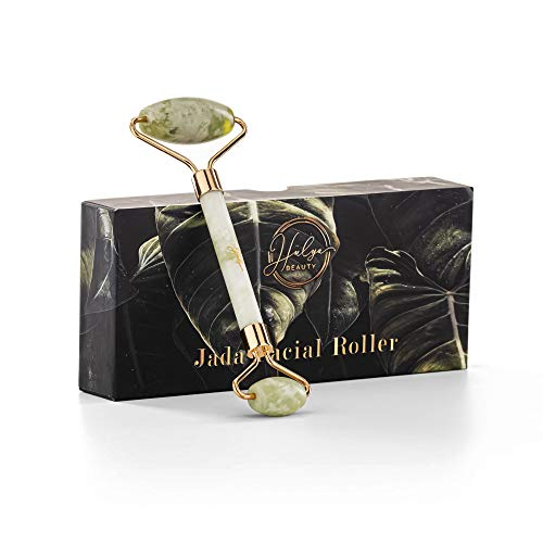 Hulya Beauty - Rullo di giada certificato per il viso - Massaggiatore viso anti-age - Roller viso Premium antirughe, strumento di Bellezza contro occhiaie e gonfiore della pelle