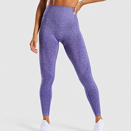 Leggings Sin Costuras Cintura Alta Mujer Fitness Pantalones De Yoga Push-ups Gym Leggings Deportivos Slim Stretch Leggings Para Correr-purple_m Leggings Mujer Leggins Mujer Deporte