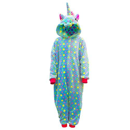 Pijama Unicornio Niña Unisexo Cosplay Traje Disfraz Niño Animal Onesies Ropa de Dormir Halloween y Navidad Mono Unicornio Franela Mamelucos 2-10 años