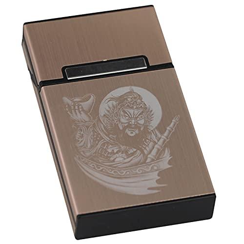 VIY Caja de Cigarrillos de Aluminio Ligero Portatil Caja Cigarillo con Cierre Magnético, Pitilleras para Hombre y Mujer, para 20 100mm Cigarrillos