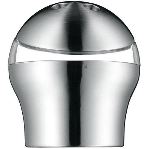 WMF Loft Eiseimer mit Siebeinsatz 19 cm, Eiswürfelbehälter, Cromargan Edelstahl mattiert, Eiskübel, Eisbehälter