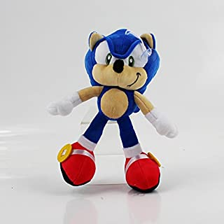 Shadow Sonic Plush The Hedgehog Doll Stuffed Animal Toy 10 inch (Sonic Blue)