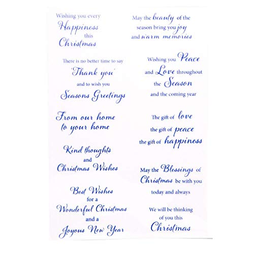KWELLAM Words Christmas Wishes Thank You Seasons Greetings Clear Stamps for Card Making Decoration and DIY Scrapbooking