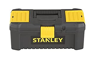 """Stanley STST1-75514""""Essential"""" 12.5"""" Toolbox with Plastic Latches, Black/Yellow (B013ERL9D2) 