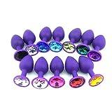 Masseur de jouets en silicone coloré bijou pour la détente des couples (3 tailles, livraison aléatoire couleur)