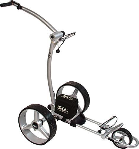 Elektro Golf Trolley PGE 3.1 Silber, 12V/33Ah Akku, USB,