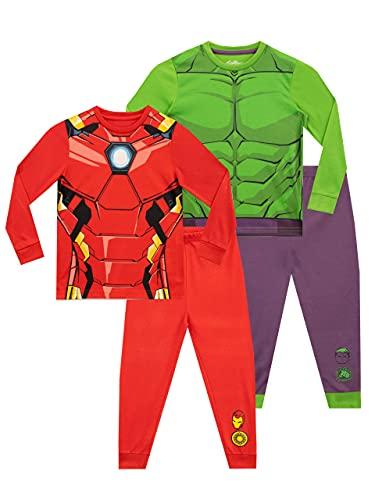 Marvel Pijamas para Niños 2 Paquetes Avengers Multicolor 4-5 Años