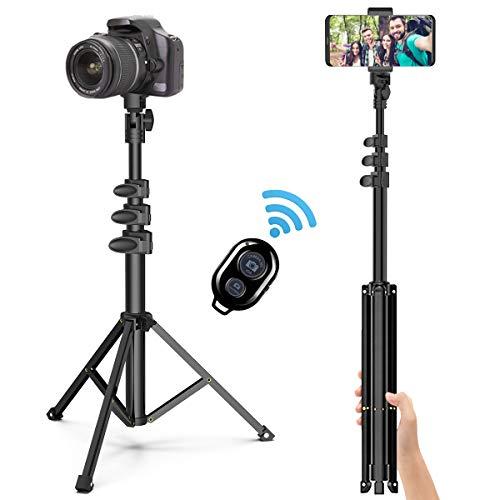 Handy Stativ Phone Selfie Stick ,131cm Leichtgewicht Wireless Selfie-Stange mit 3 in 1 Halterung und Bluetooth-Fernbedienung,Kamera Stativ für iPhone,Android,Samsung,Huawei,Smartphones.