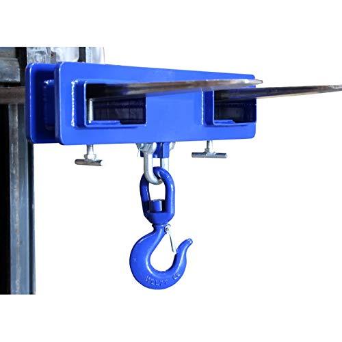 Lasthaken für Gabelstapler Verladehaken | Tragkraft 1000 kg / 1t | Maße (LxBxH): 445x120x130