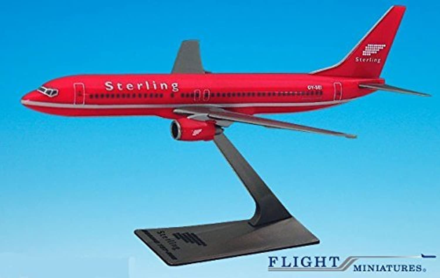 Sterling Red 737800 Airplane Miniature Model Plastic SnapFit 1 200 Part  ABO73780H018