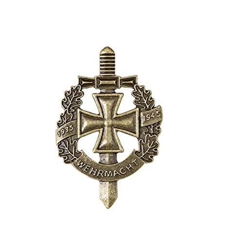 valungtung Moneda Conmemorativa De La Segunda Guerra Mundial, Ejército Alemán, Wehrmacht WH, Insignia De Pin, Insignia Vintage, Medalla De Metal Edelweiss