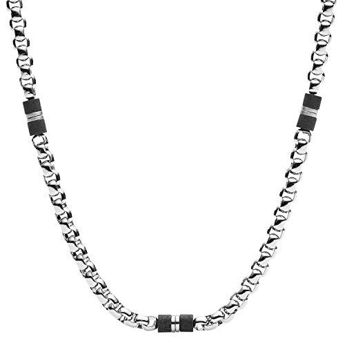 Fossil Herren Kette - Black Marble, JF03314040