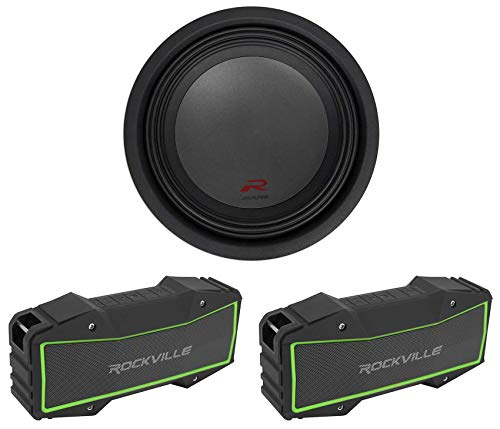 Alpine R-W12D4 12' 750w RMS Car Subwoofer Sub+(2) Stereo Bluetooth Speakers