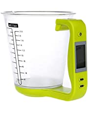 Baifeng Kitchen Measuring Jug, Electronic Scale, Digital Measuring Cup Scale,Weighing Device Thermometer with LCD Display