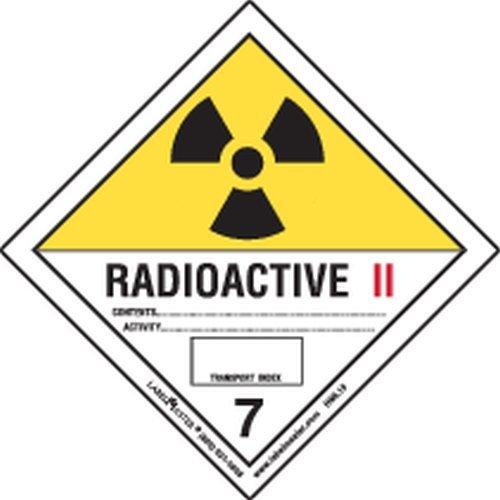 Labelmaster HML15S Radioactive III Canadian Label, Paper, Hazard Class 7, Hazmat, 4