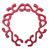 Griglia per arrosti Utensile da Cucina in Silicone Antiaderente Forno a microonde Supporto per griglia Supporto per teglia da Forno per Tacchino(Rosso)